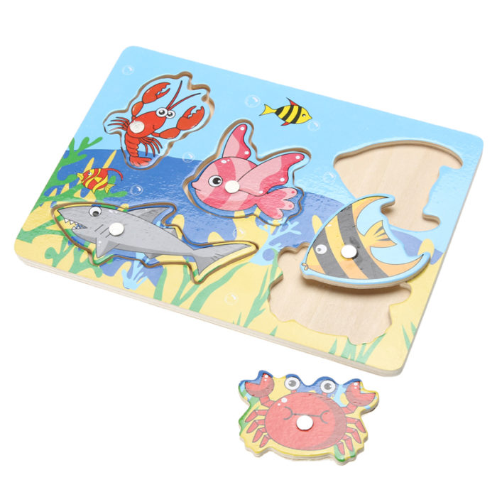 Wooden Magnetic 3D Fishing Game / Jigsaw Puzzle