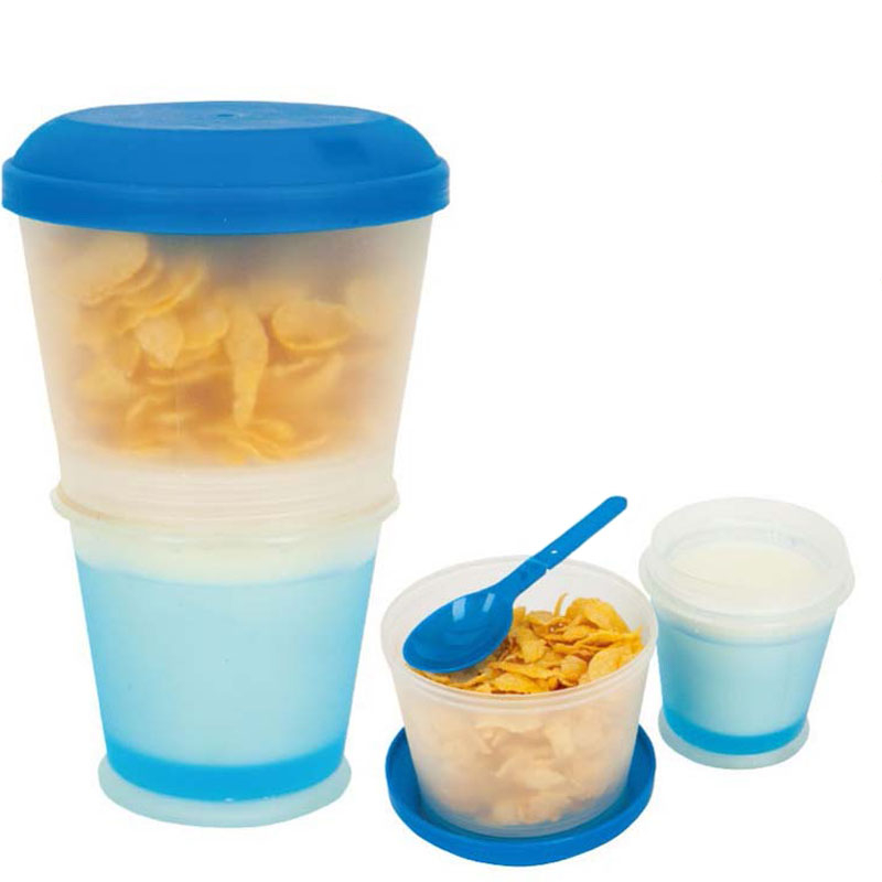 Breakfast Travel Cup With Foldable Spoon