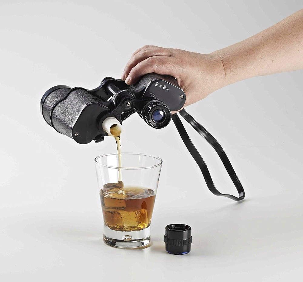 Double Sided Binocular Whiskey Flask Life Changing Products