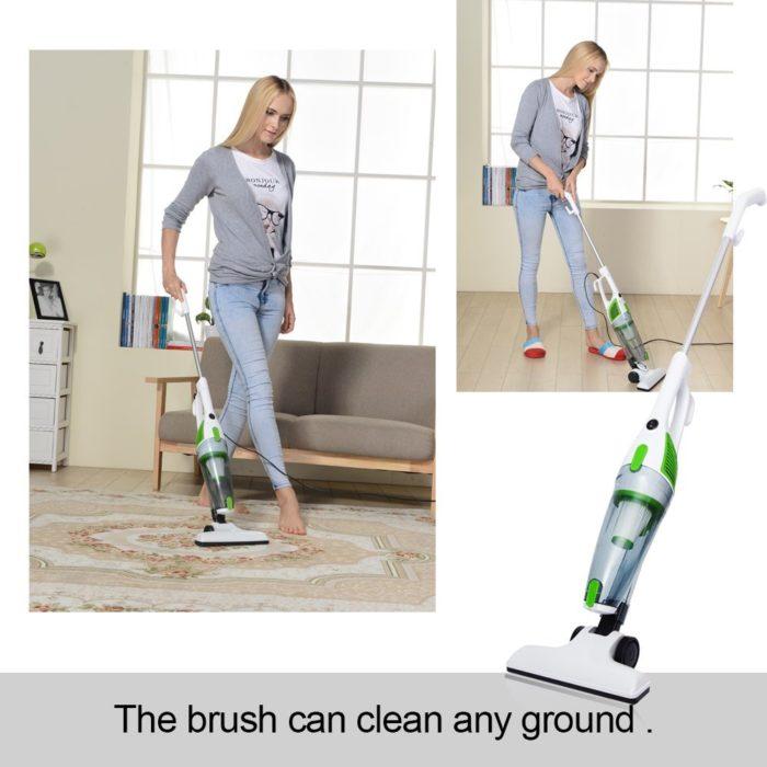 2 in 1 Ultra Quiet Vacuum Cleaner with HEPA Filter