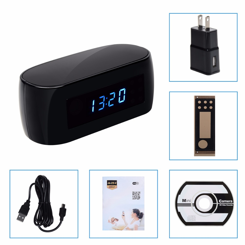 WiFi Hidden Spy Camera Clock
