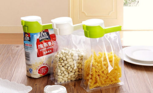 Clip On Bag-To-Pour Food Storage Sealer Clip