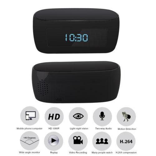 WiFi Hidden Spy Camera Clock