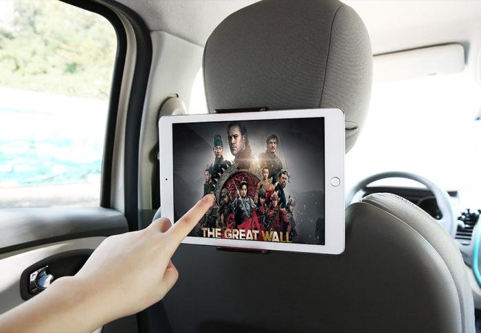 "4-11"" 360° Back Seat Headrest Mobile Device Holder"