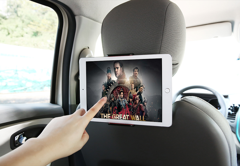 "4-11"" 360° Back Seat Headrest Mobile Device Holder"