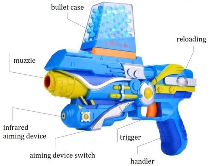 Water Balls Gun With Soft Bullets