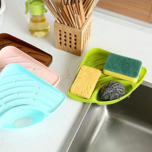 Triangular Self Draining Sink Dish