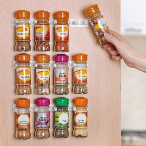 Plastic Spice Rack Storage (Set Of 4)