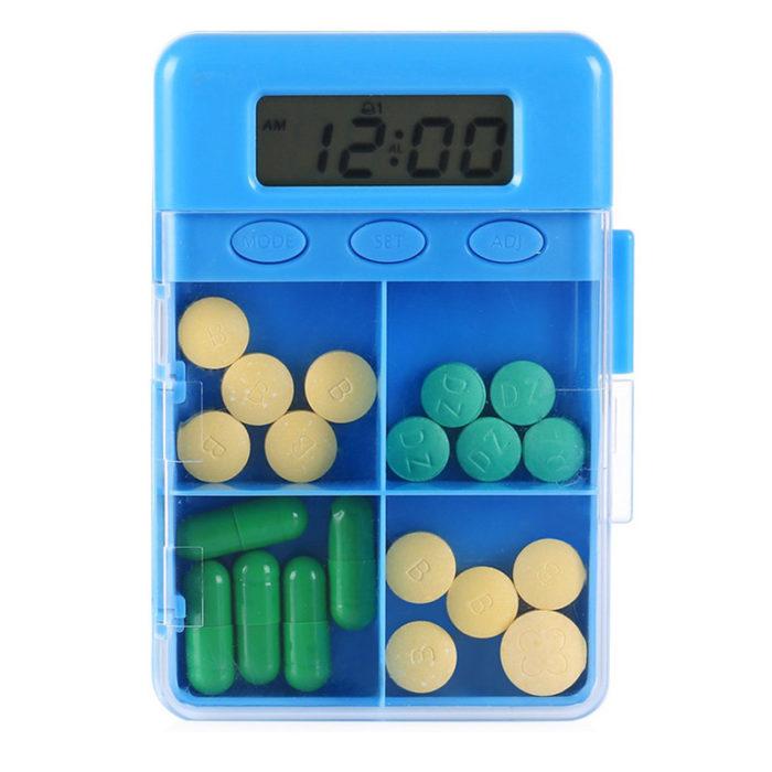 4 Grid Smart Reminder Pill Organizer