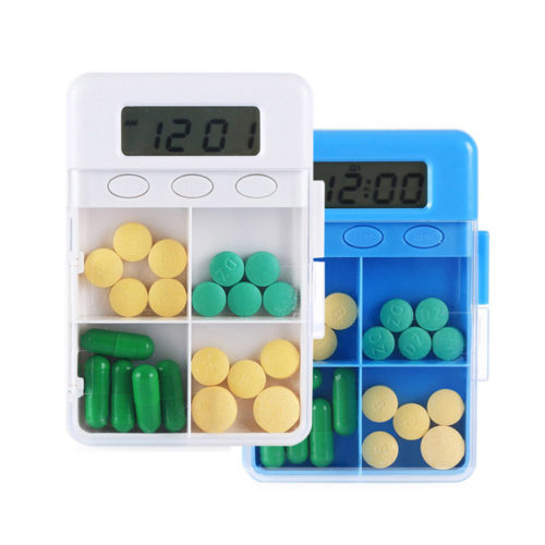 4 Grid Smart Reminder Pill Organizer