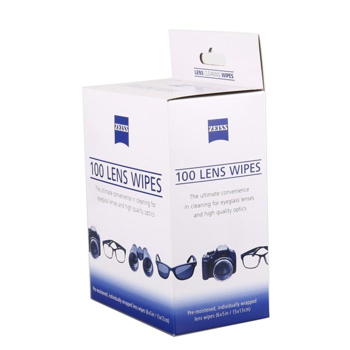 Pre-Moistened Glass Cleaning Wipes (Pack of 100)