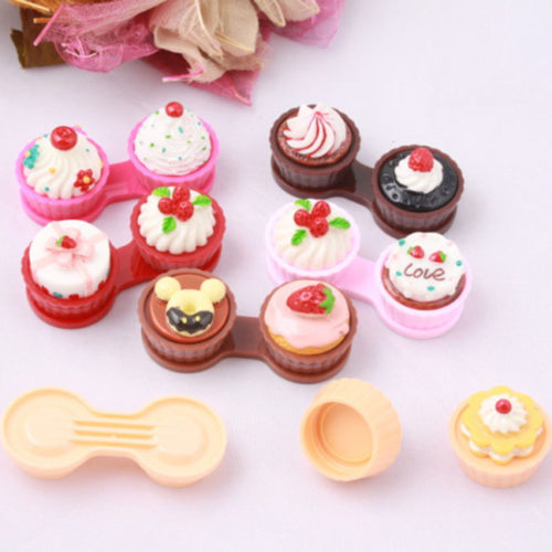 Novelty Cake Shaped Contact Lenses Case