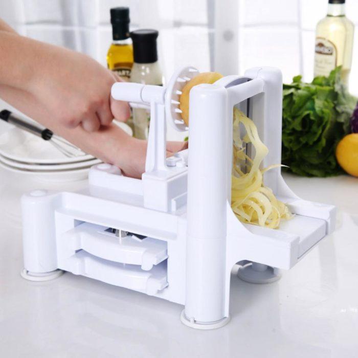 3 in 1 Tri-Blade Vegetable Slicer Spiralizer