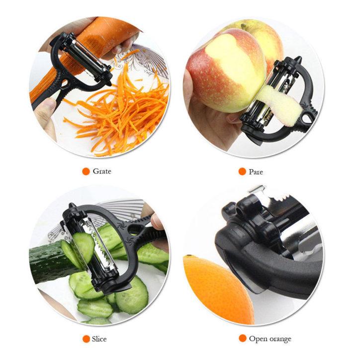 Multi-Functional 360° Rotary 4-in-1 Vegetable Peeler