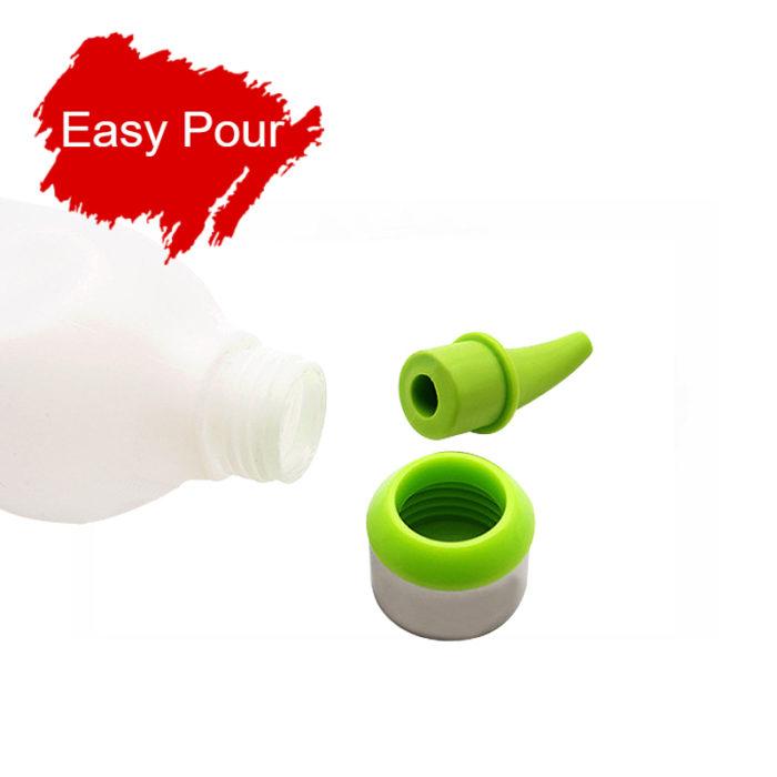 Universal Reusable Plastic Bottle With Nozzle Squeeze Bottle