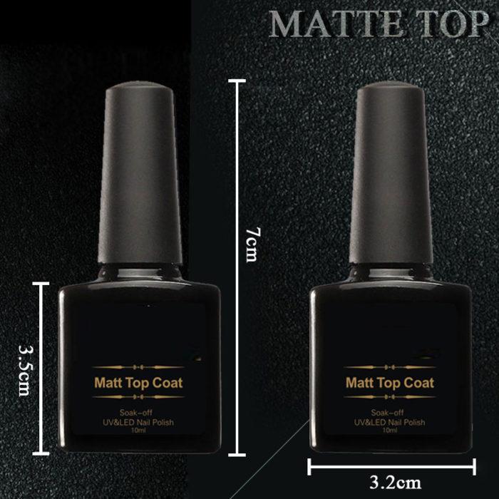 Matte Nail Polish - Matte Top Coat / Transparent Matt Gel Nail Polish