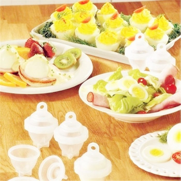 Egg Cooker without Shell (Set of 6) + Yolk Separator