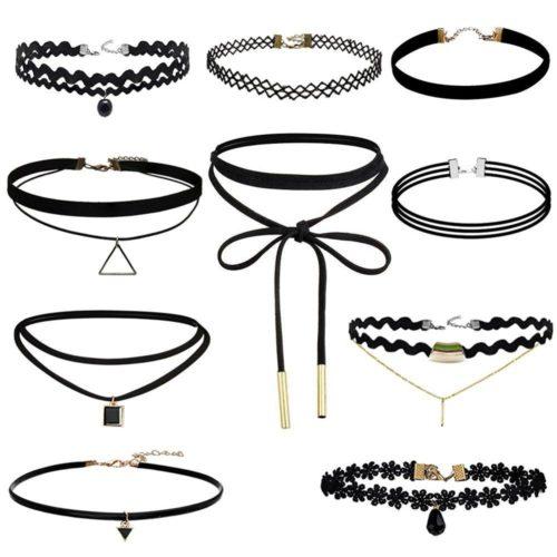 Black Velvet Choker Necklace Tattoo Lace Collar