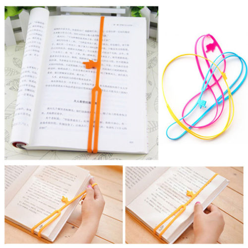 Adjustable Elastic Silicone Bookmark Clip