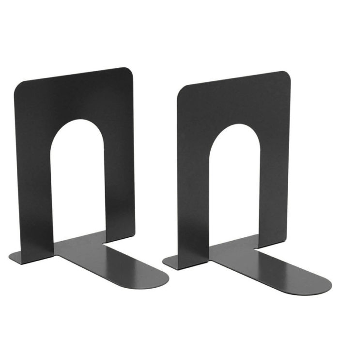Metal Bookend Adjustable Bookshelf Book Stand (Set of 2)