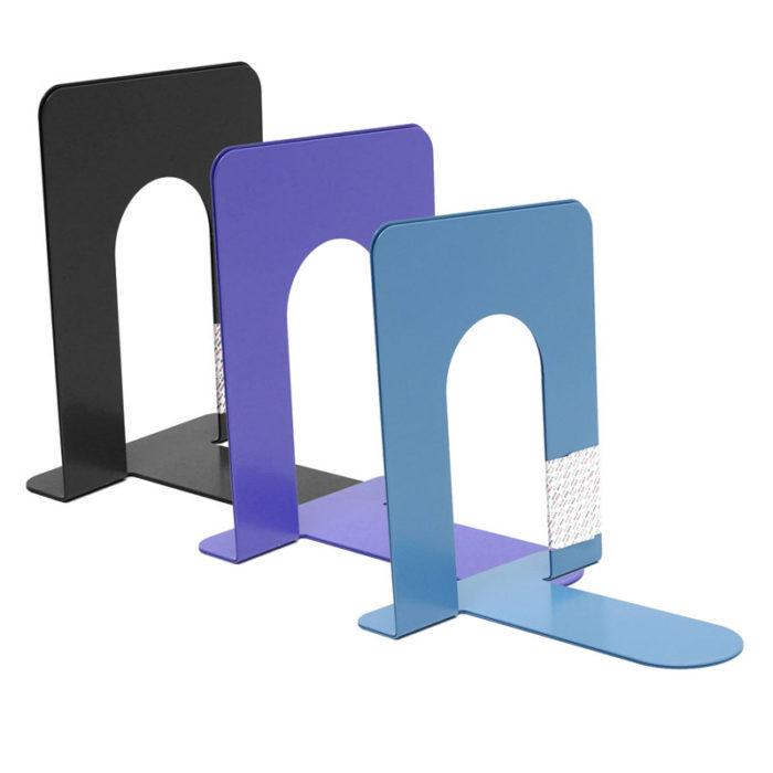 Metal Bookend Adjustable Bookshelf Book Stand (Set of 2)