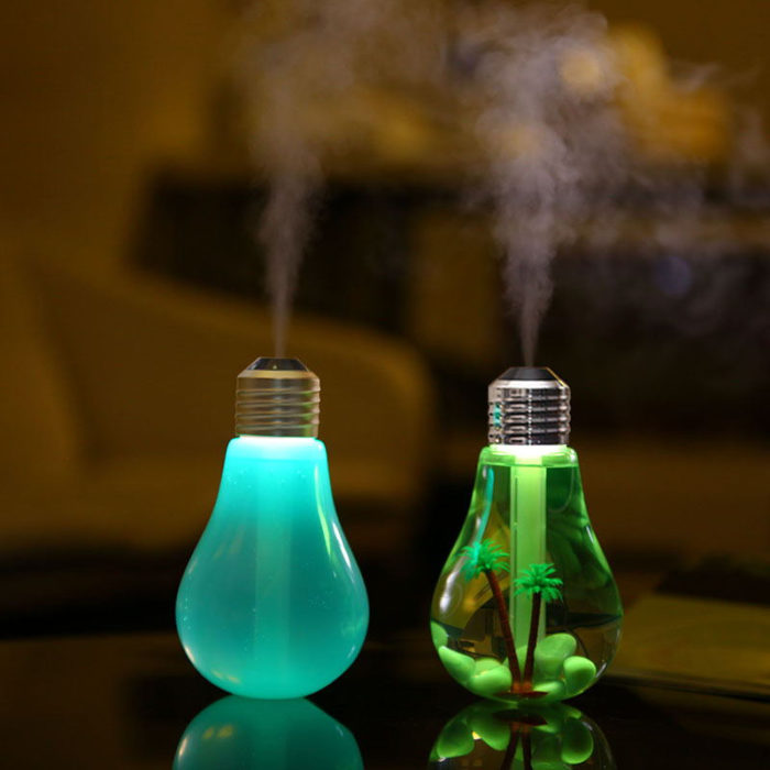7 Colors Bulb Night Light Ultrasonic Humidifier USB Humidifier