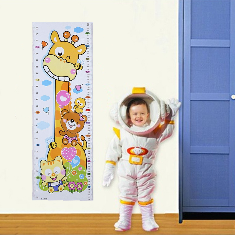 cartoon pvc kids wall growth chart sticker - life changing products