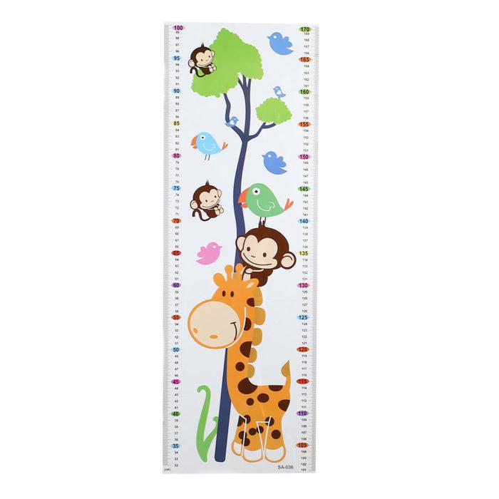 Cartoon PVC Kids Wall Growth Chart