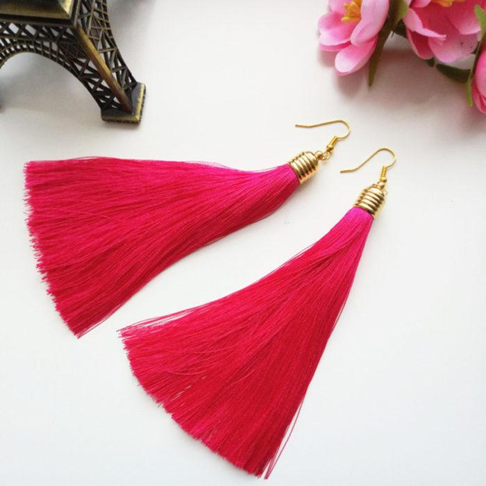 Elegant Long Tassel Earrings