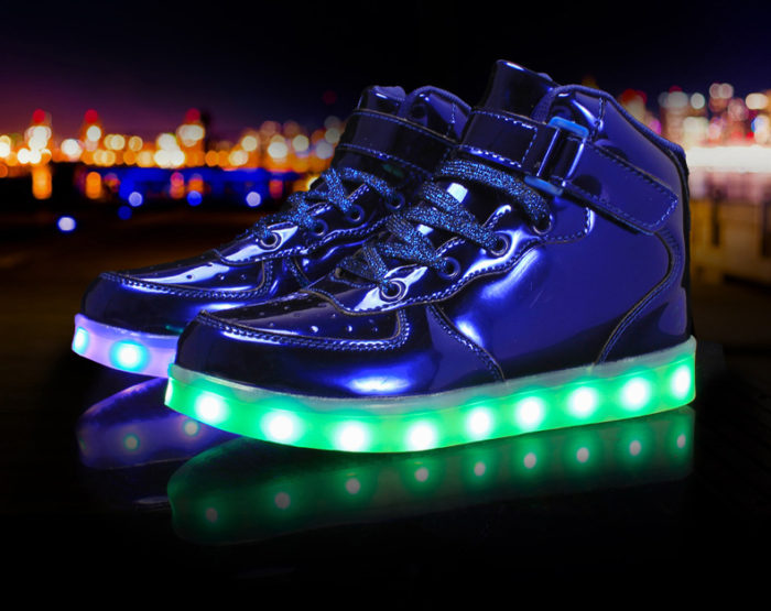 USB Charging LED Glowing Sneakers