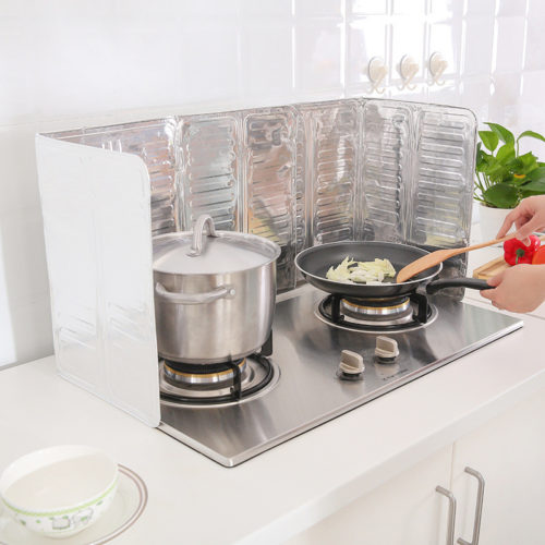 Portable Splatter Screen Stove Top Foil Oil Splash Guard