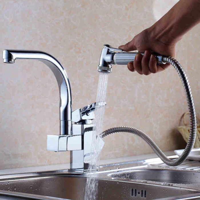 Pull-Out Spray Kitchen Faucet