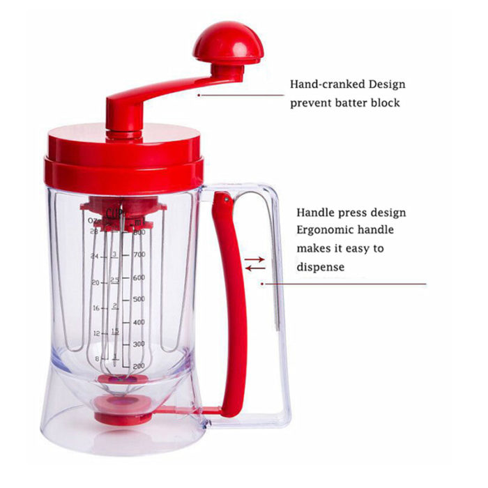 2-in-1 Hand Mixer and Batter Dispenser