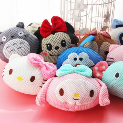 Super Cute Cartoon Animals Bath Sponge Scrub Ball