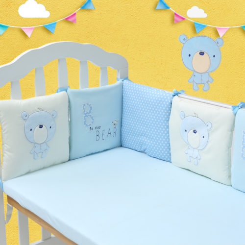 Baby Cot Crib Bumper Safety Protector Bedding Set 6Pcs/Set