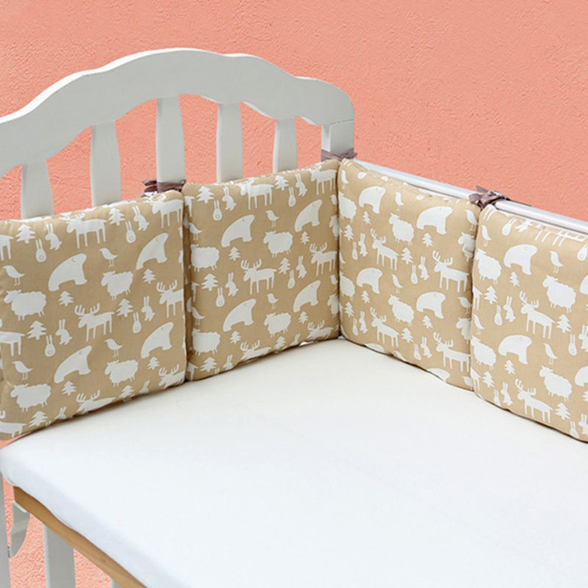 Baby Cot Crib Bumper Safety Cute Bedding Set Life