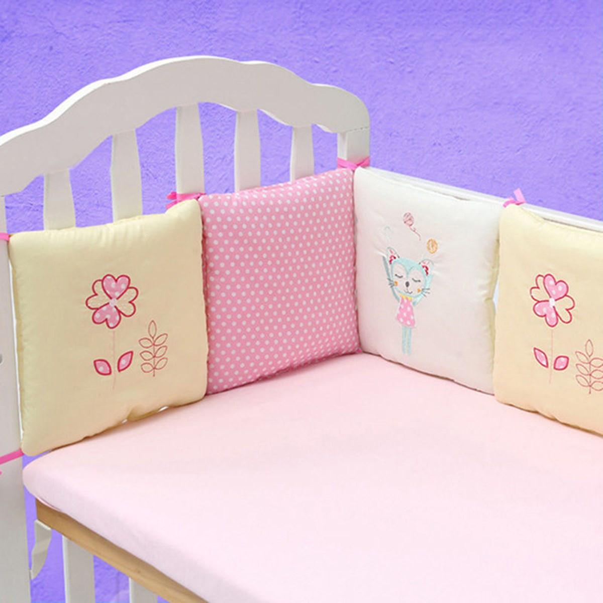 Baby Cot Crib Bumper Safety Cute Bedding Set Life