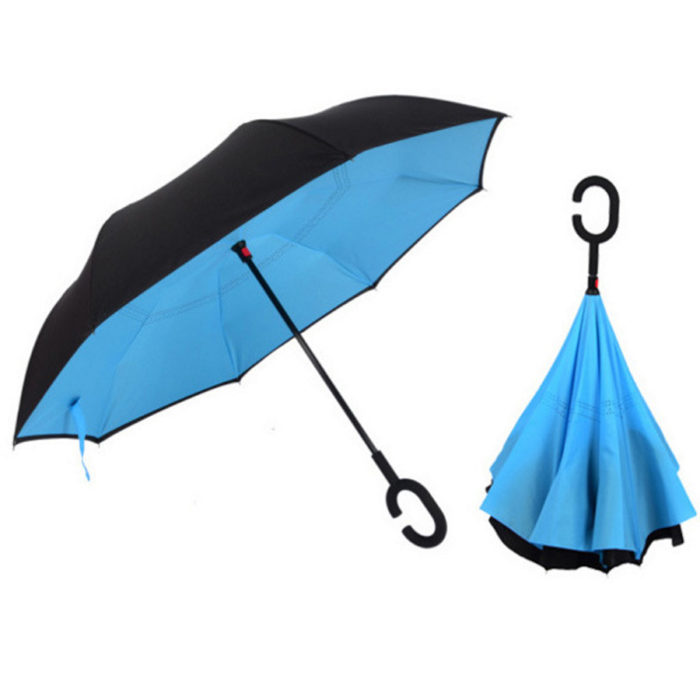 Reverse Folding Double Layered Windproof Umbrella