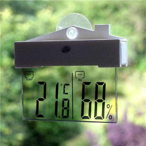Digital LCD Weather Window Station Thermometer Hydrometer