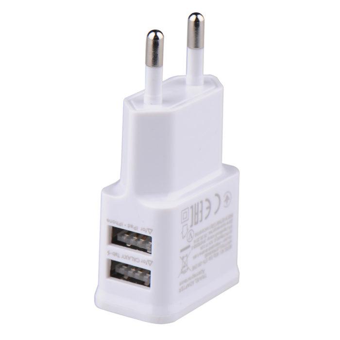 Universal Plug Dual USB Mobile Phone Charger