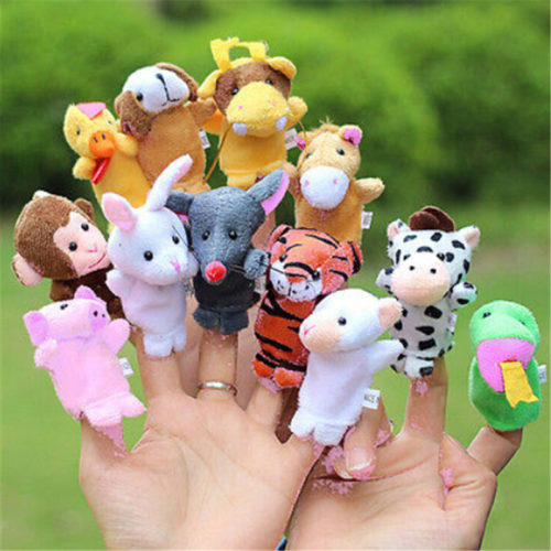 Cute Family Finger Puppets Animal Plush Toy Sets