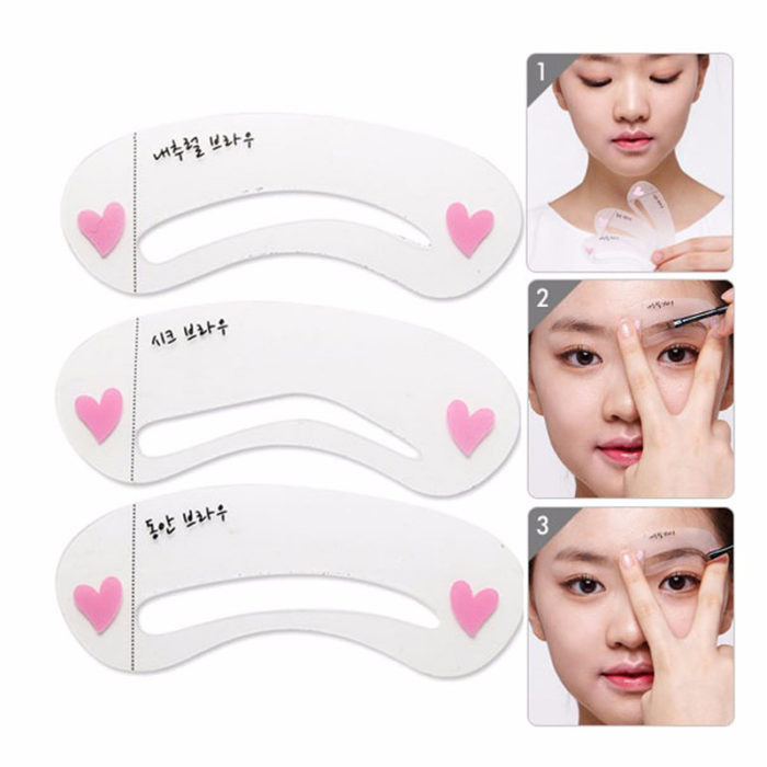 Grooming Stencil Kit Shaping DIY Beauty Eyebrow