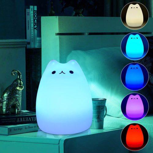 Cat LED USB Children Animal Night Touch Light