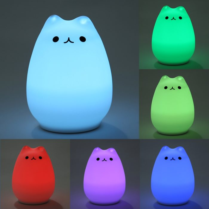 Cat LED USB Children Animal Night Touch Light