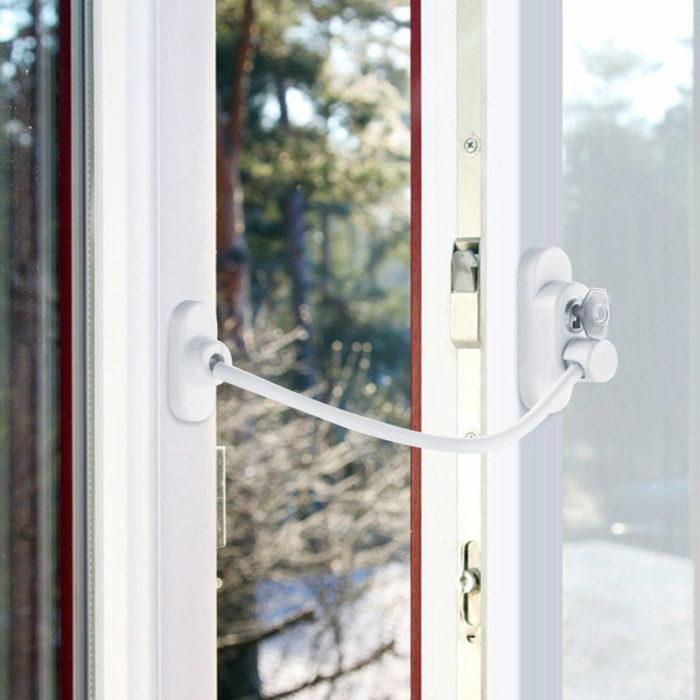Flexible Cable Door Window Restrictors Safety Lock