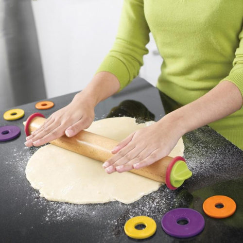 Adjustable Wooden Rolling Pin Non-stick Pastry Tools