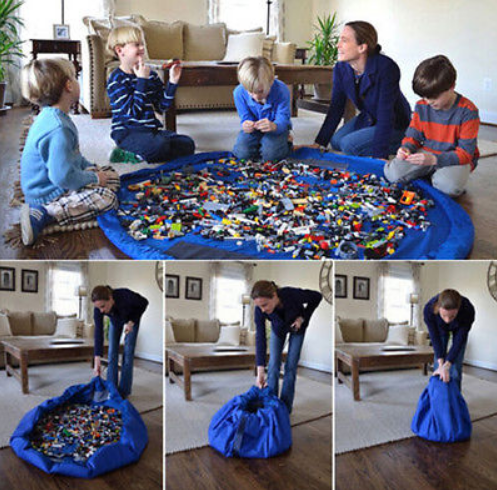 Kids Toy Storage Toy Organizer Bean Bag