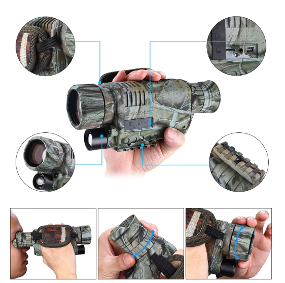 Monocular Infrared Night Vision Goggles