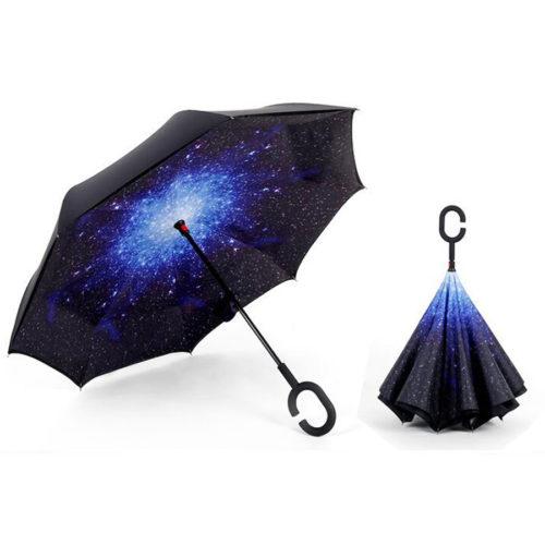 Reverse Folding Double Layer Windproof Umbrella