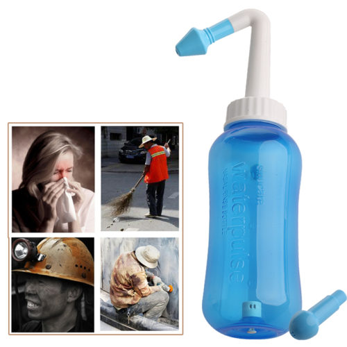 Nasal Pressure Neti Pot Nose Wash System